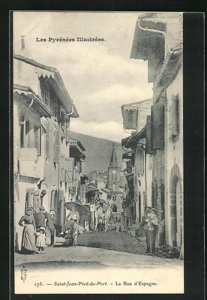 AK Saint-Jean-Pied-de-Port, La Rue d`Espagne