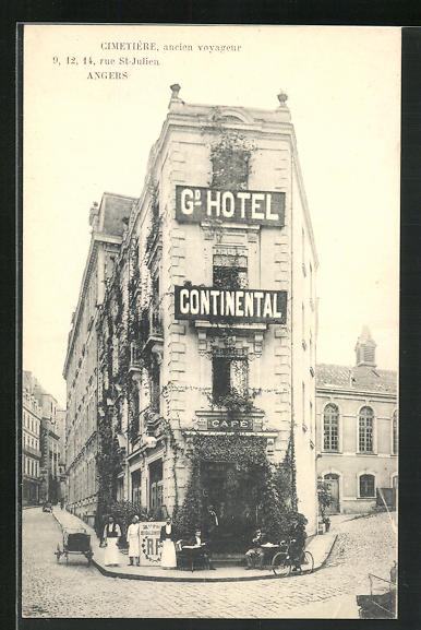 AK Angers, Grand Hotel Continental, 9, 12, 14 Rue St-Julien