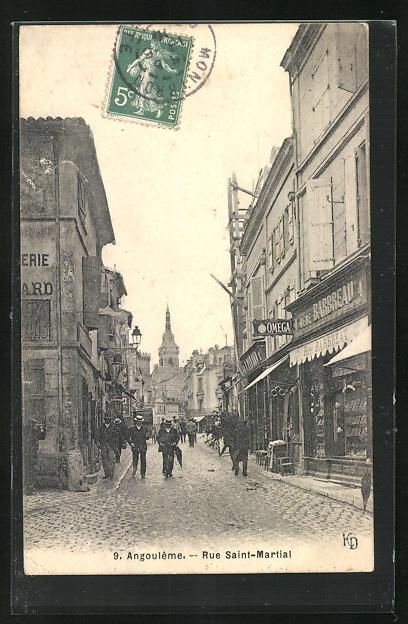 AK Angouleme, Rue Saint-Martial