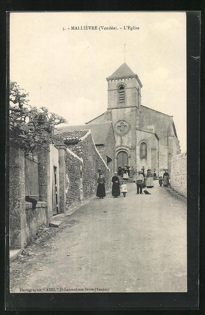 AK Mallièvre, L`Eglise, Blick zur Kirche
