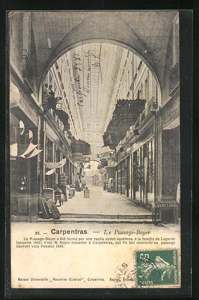 AK Carpentras, Le Passage-Boyer