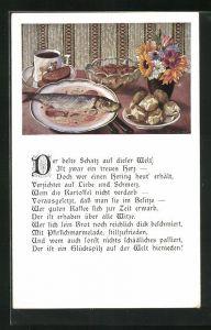 AK Hering auf dem Tisch, Der beste Schatz auf dieser Welt, Ist zwar ein treues Herz...