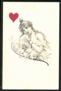 AK Herz-Dame, Kartenspiel