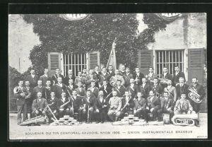 AK Nyon, Tir Cantonal Vaudois 1906, Union Instrumentale Brassus