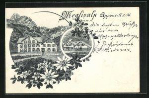 AK Appenzell J. Rh., Gasthaus Meglisalp, Mehrfachansicht