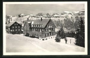 AK Flums-Grossberg, Hotel Tannenboden im Winter
