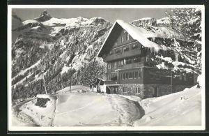 AK Braunwald, Haus Berfrieden im Winter