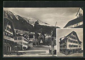 AK Stans, Dorfplatz und Hotel Tell