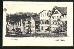 AK Heiden, Gasthaus an der Werdstrasse
