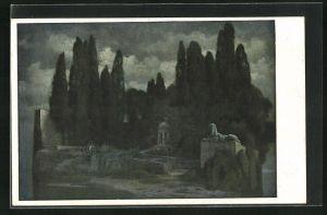 Künstler-AK Hermann Rüdisühli: Heilige Stätte