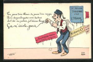 Künstler-AK Philippe Norwins: Tu oeux dire blanc..., Scherz