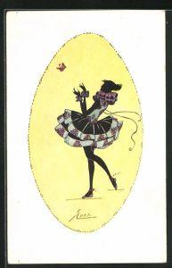Künstler-AK Erna Maison-Kurt: Ballerina blickt einem Schmetterling hinterher