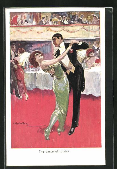Künstler-AK Luis Usabal: The dance of the day, Tanz