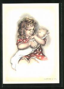 Künstler-AK Hilla Peyk: Puppenmutter
