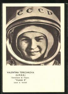 AK Valentina Terechkova, Cosmonaute de l`Espace Vostok 6