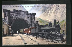 AK Goeschenen, Grosser Tunnel der Gotthardbahn