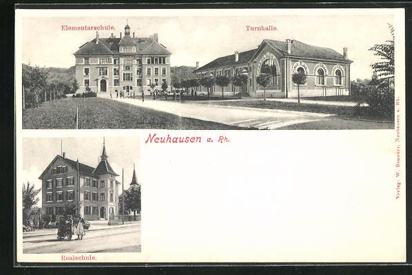 AK Neuhausen a. Rh., Elementarschule und Turnhalle, Realschule
