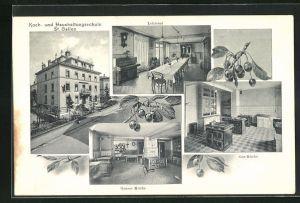 AK St. Gallen, Koch- und Haushaltungsschule, Lehrsaal, Gas-Küche, Grosse Küche