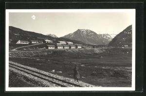 AK Tujetsch - Oberalp, Militärbaracken an der Passhöhe