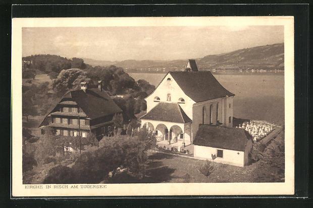 AK Risch, Hotel Kurhaus Waldheim, Fam. Schriber
