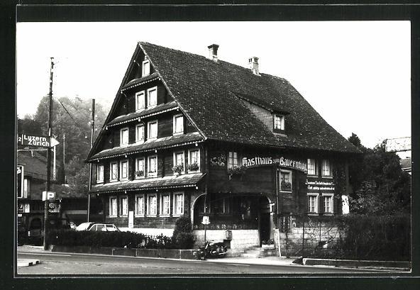 AK Goldau / SZ, Gasthof Bauernhof