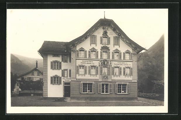 AK Gersau, Rathaus und Post