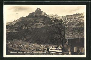 AK Linthal, Ferienheim Restiberg mit Blick auf Ortstock