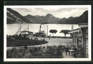 AK Alpnachstad, Blick vom Hotel Pilatus auf den Vierwaldstättersee