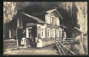 AK Wildkirchli, Partie am Gasthaus