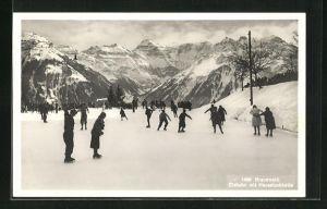 AK Braunwald, Eisbahn mit Hausstockkette