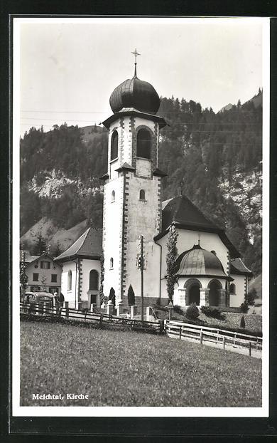 AK Melchtal, Ansicht der Kirche