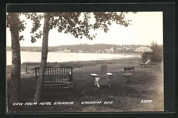 AK Ephraim, WI, View from Hotel Ephraim