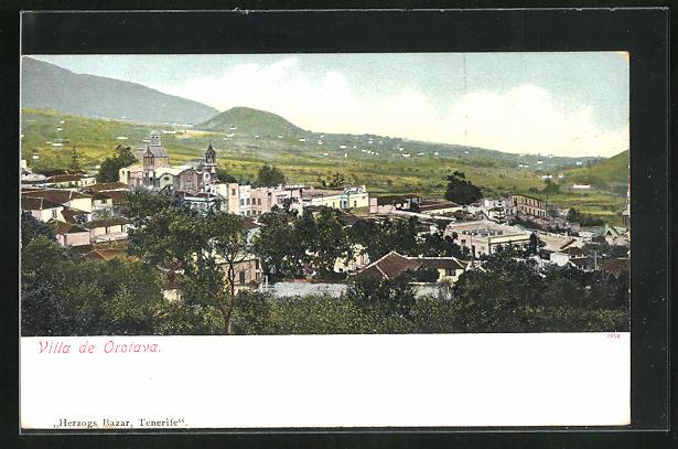 AK Orotava, Ortsansicht mit Umgebung und Berge