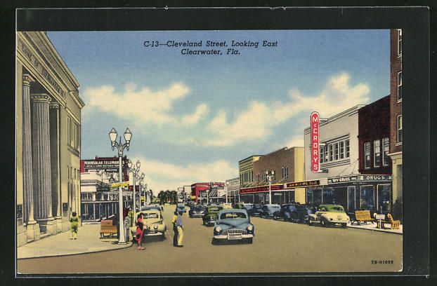 AK Clearwater, FL, Cleveland Street, Looking East
