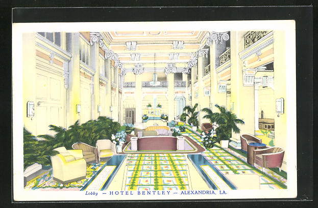 AK Alexandria, LA, Lobby Hotel Bentley, Innenansicht