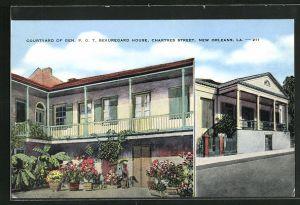 AK New Orleans, LA, Courtyard of Gen. P. G. T. Beauregard House, Chartres Street