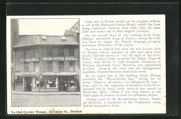 AK Boston, MA, Ye Old Oyster Hause, 41 Union St.
