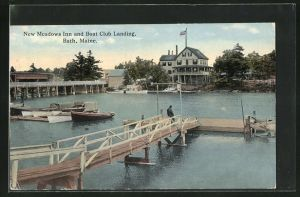 AK Bath, ME, New Meadows Inn and Boat Club Landing
