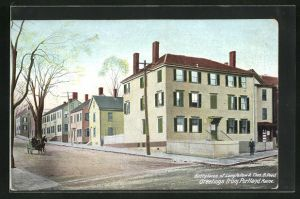 AK Portland, ME, Birthplaces of Longfellow & Thos. B. Reed