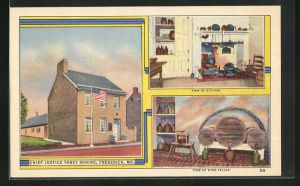AK Frederick, MD, Chief Justice Taney Shrine, View of Kitchen, View of Wine Cellar
