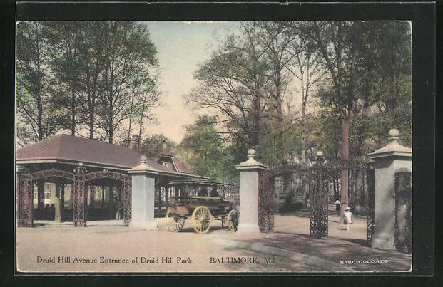 AK Baltimore, MD, Druid Hill Avenue Entrance of Druid Hill Park