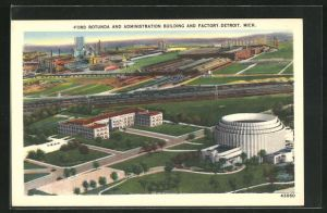 AK Detroit, MI, Ford Rotunda and Administration Building and Factory