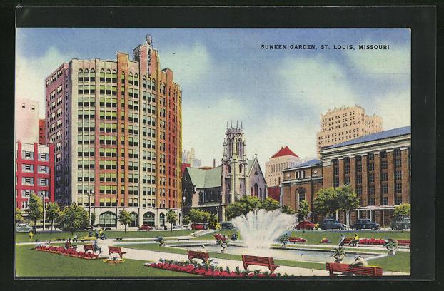 AK St. Louis, MO, Sunken Garden