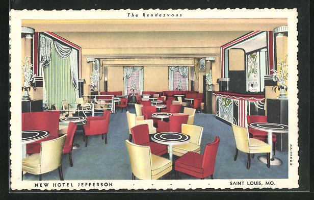 AK Saint Louis, MO, New Hotel Jefferson, The Rendezvous, Innenansicht
