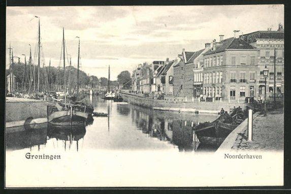 AK Groningen, Noorderhaven, Partie am Hafen