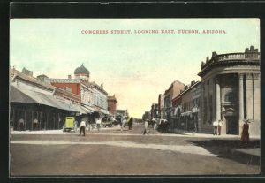 AK Tucson, AZ, Congress street, looking east, Strassenpartie