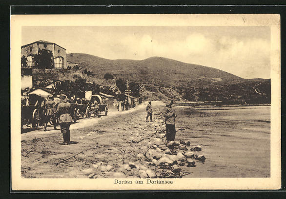 AK Dorian, Soldaten am Ufer des Doriansees