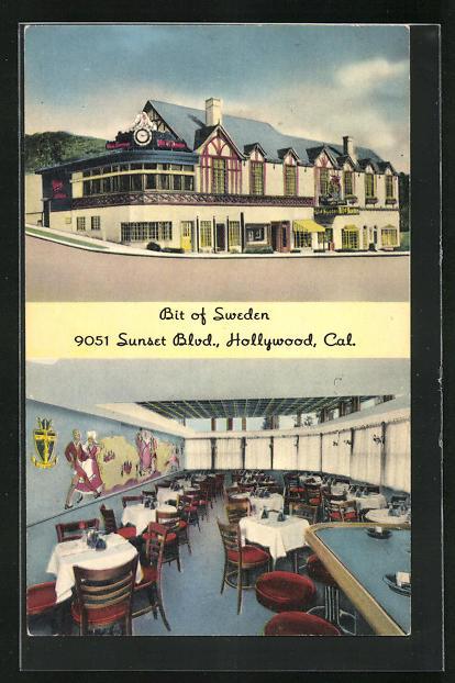 AK Hollywood, CA, Restaurant Bit of Sweden, Sunset Boulevard
