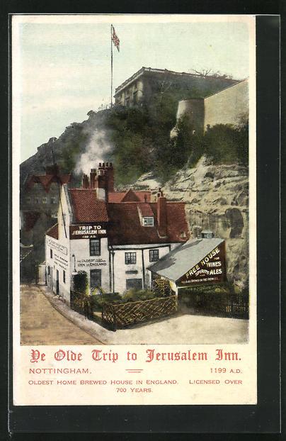 AK Nottingham, de olde Trip to Jerusalem Inn