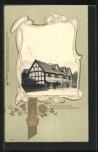 Präge-AK Stratford-upon-Avon, Shakespeare's Birthdayplace